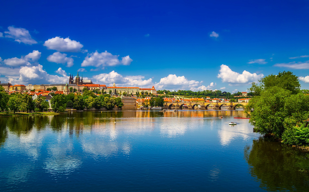 River view of Prague, Czech Republic